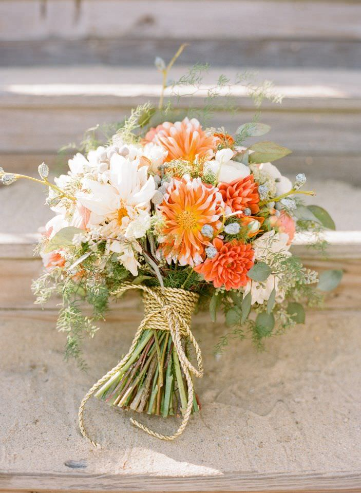 Осенний букет невесты