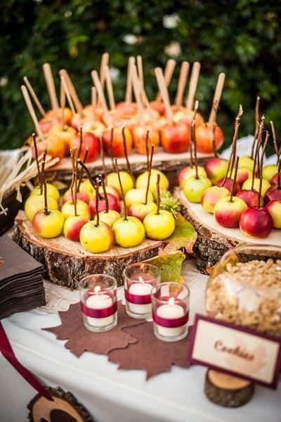 Осенний фруктовый бар
