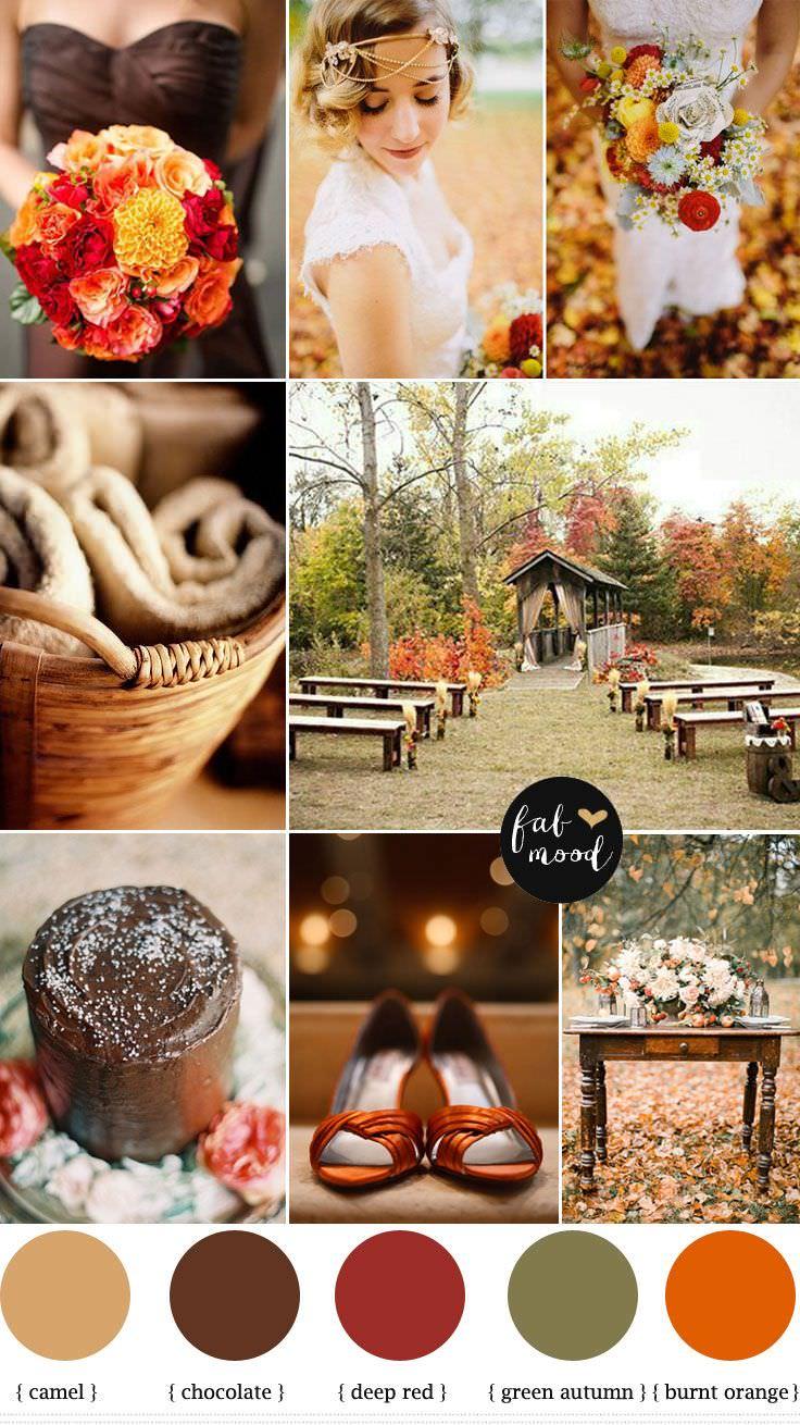 Цветовая гамма для свадьбы осенью