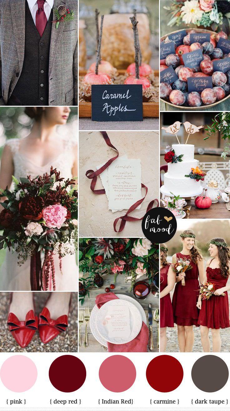 Цветовая гамма свадьбы осенью