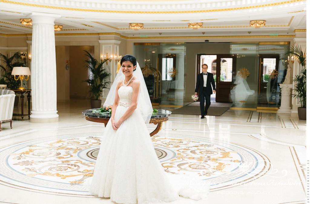Встреча жениха и невесты в отеле Эрмитаж