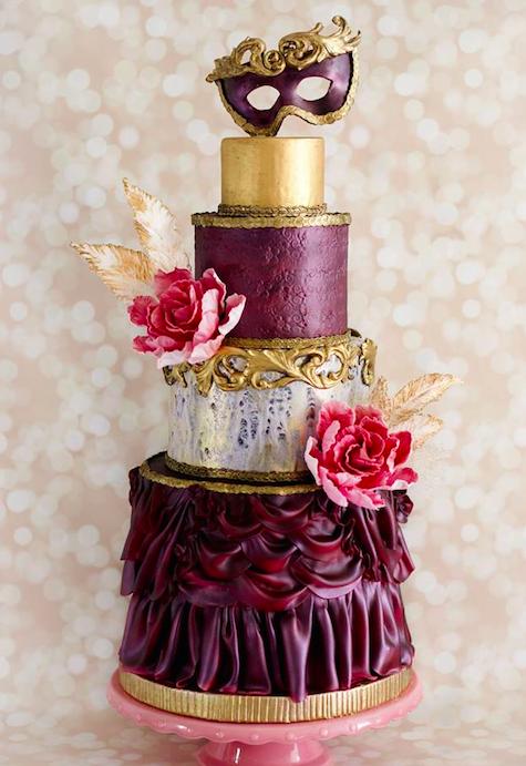 Роскошный дизайн свадебного торта