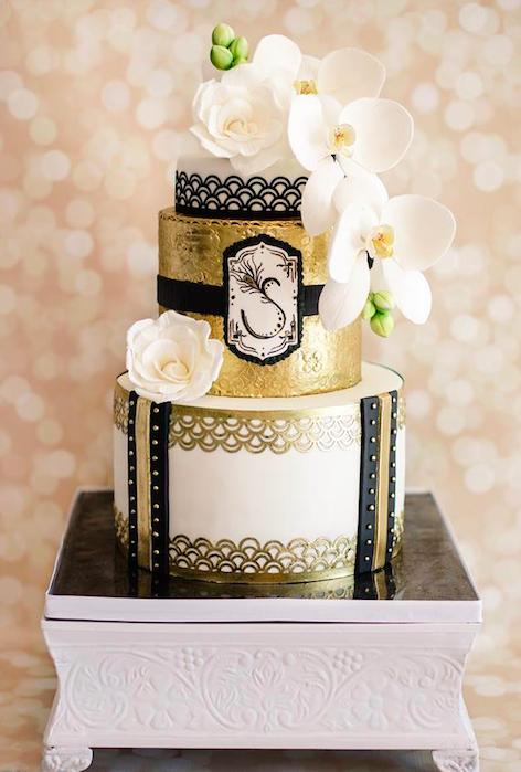 Свадебный торт в стиле Великий Гетсби