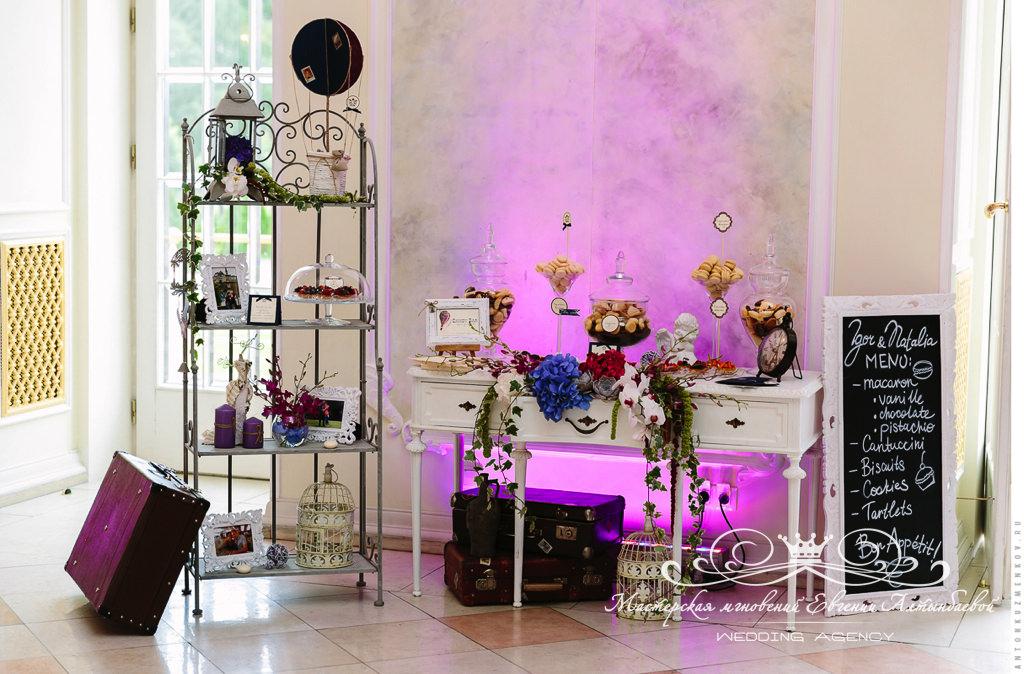 Candy-bar на свадбе в Летнем дворце