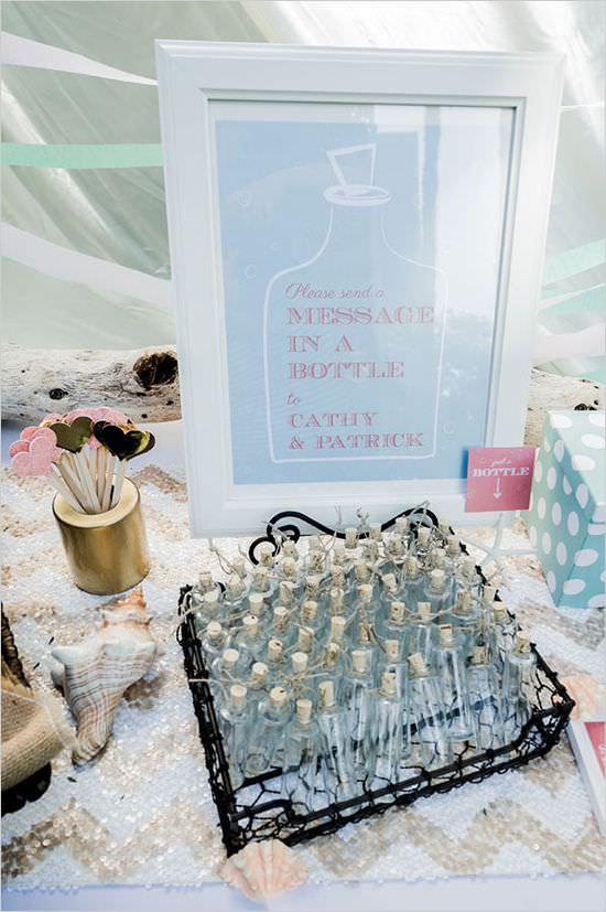 Послание в бутылке на свадьбе