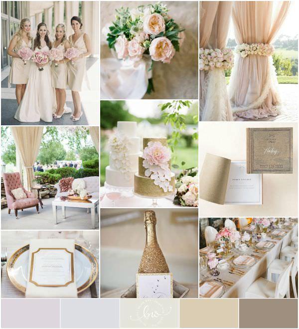 Нежная цветовая палитра для свадьбы