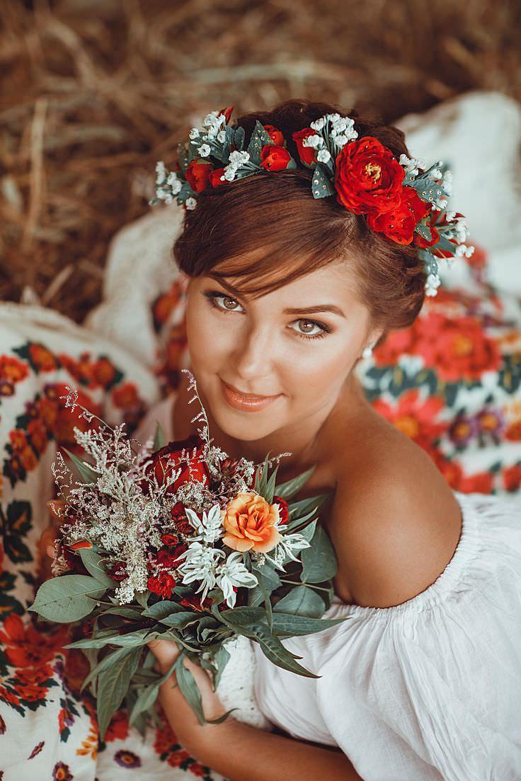 Образ невесты для свадьбы в русском стиле