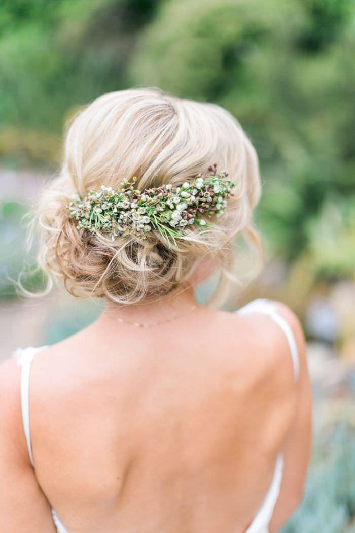 Причёска невесты в стиле растик