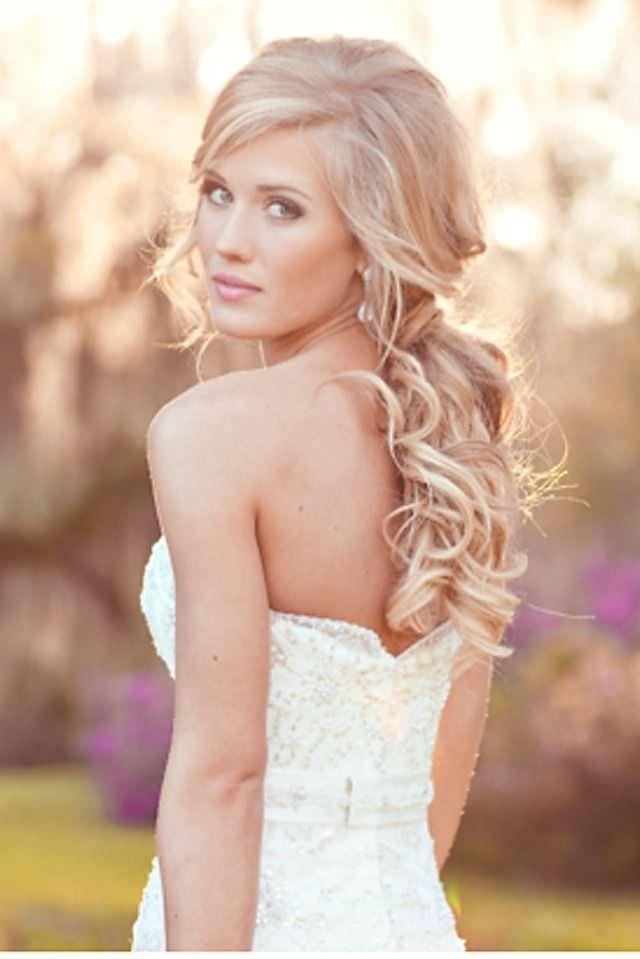 Свадебная причёска 2015