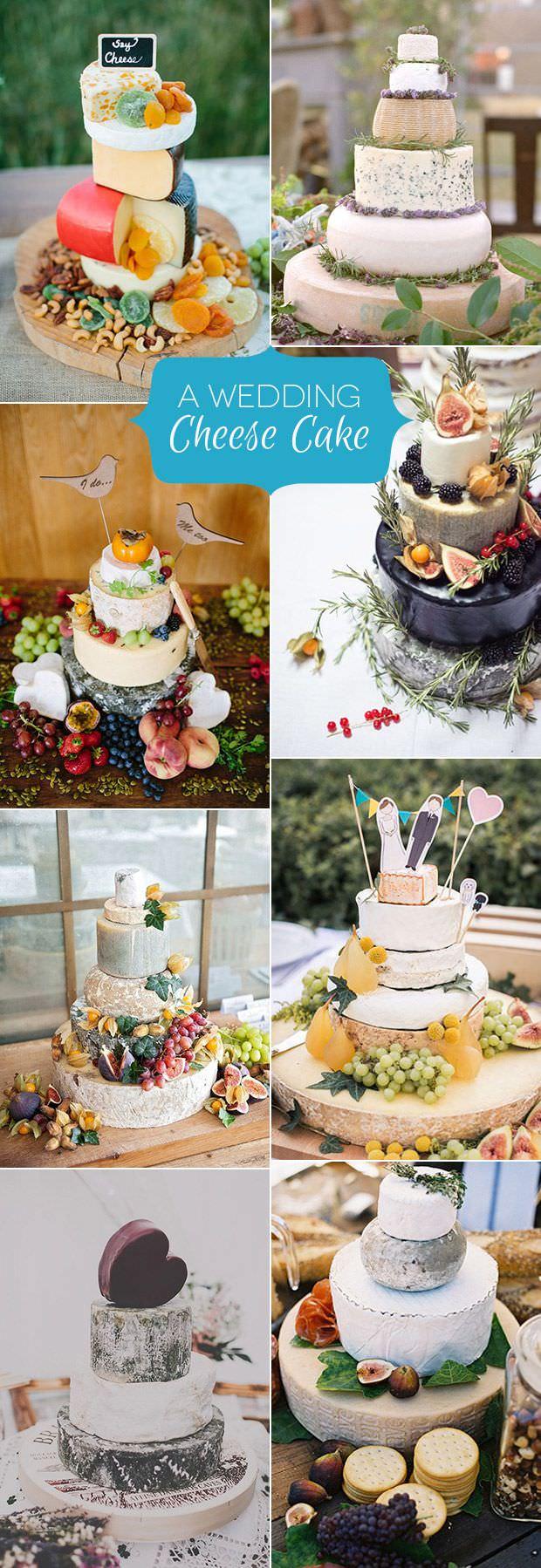Сырный торт на свадьбе