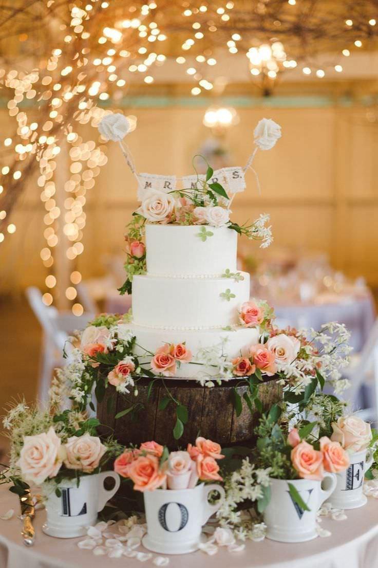 Декор торта для весенней свадьбы