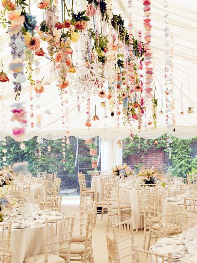 Оформление шатра для свадьбы весной