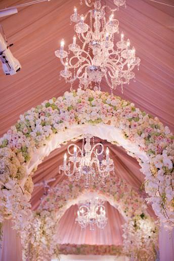 Роскошный декор свадьбы цветами