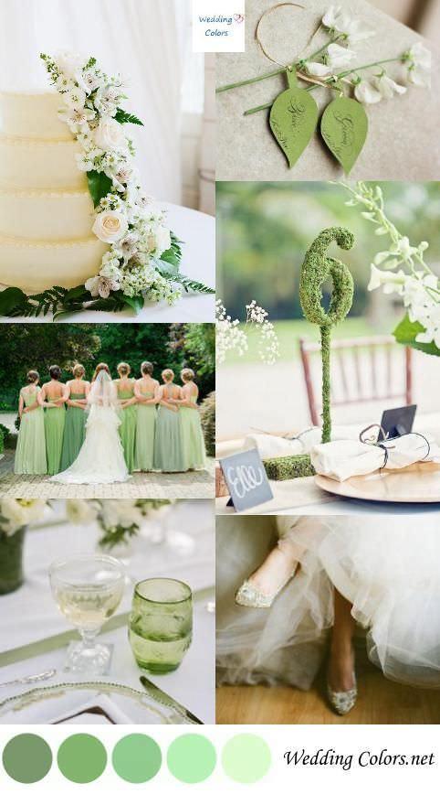 Цветовая гамма для свадьбы весной