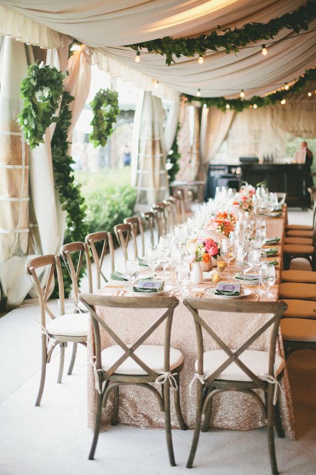 Весенний свадебный декор