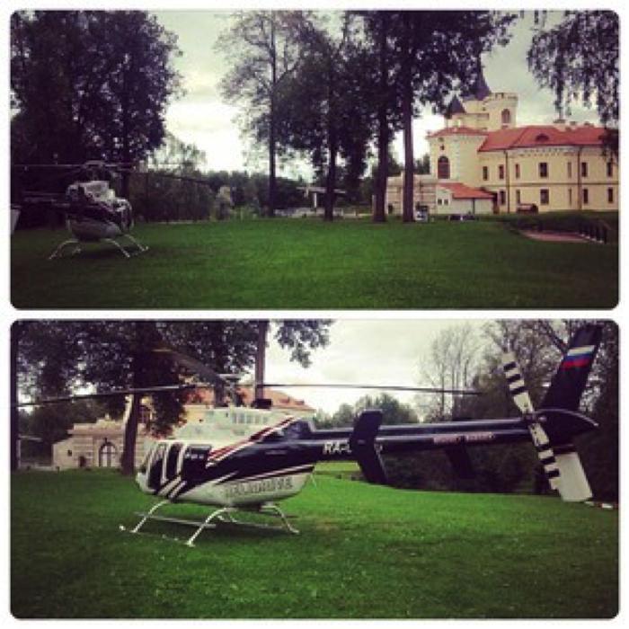 Вертолёт для свадьбы в замке БИП