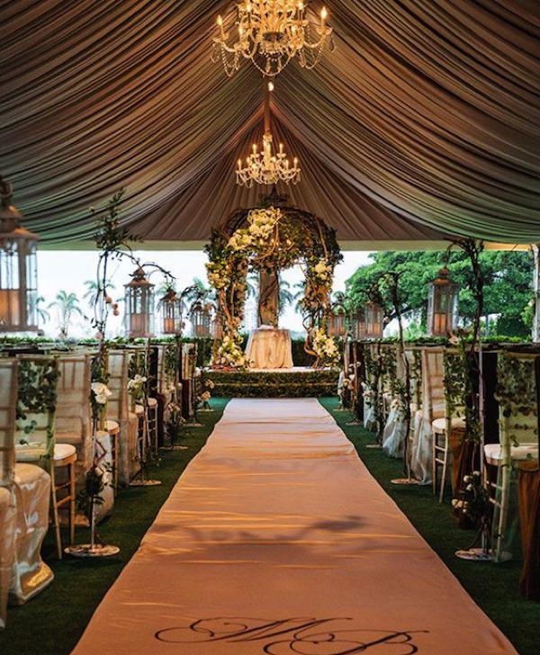 Декор шатра для проведения свадьбы