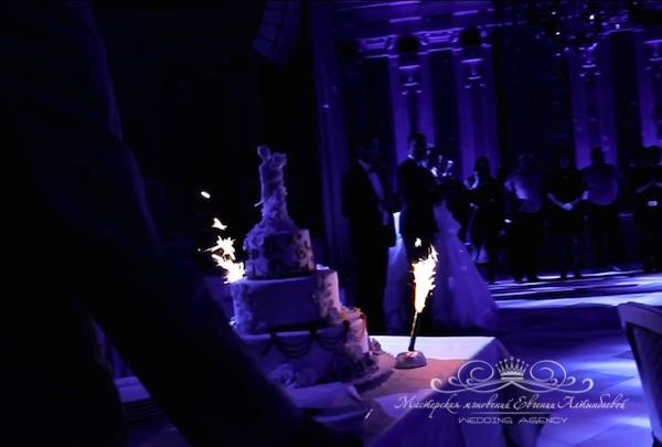 Торт на свадьбу во дворце
