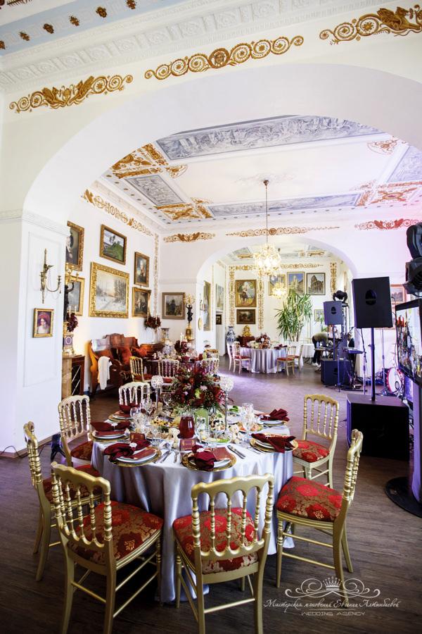 Организация свадебного банкета в усадьбе Марьино