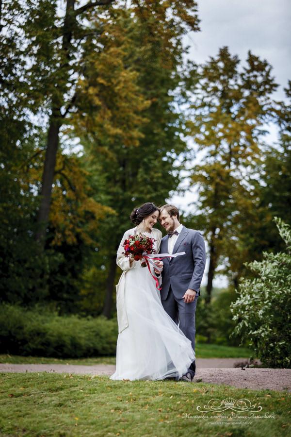Свадебная фотосессия загородом