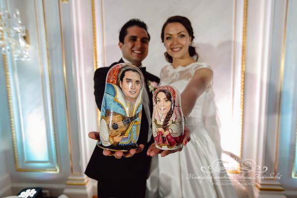 Русские сувениры на свадьбе