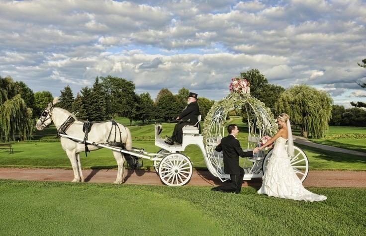 Заказ красивой кареты на свадьбу