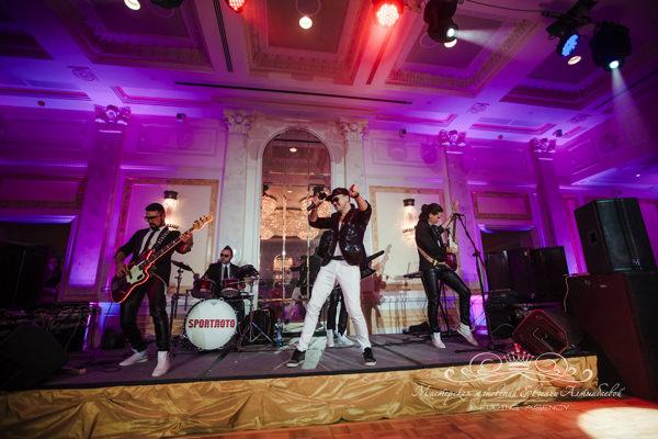Кавер группа Спортлото на свадьбе в отеле фор сизонс спб