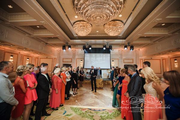 Красивая свадьба в бальном зале Монферран в отеле фор сизонс