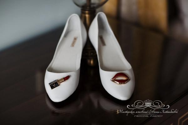 Оригинальные свадебные туфли