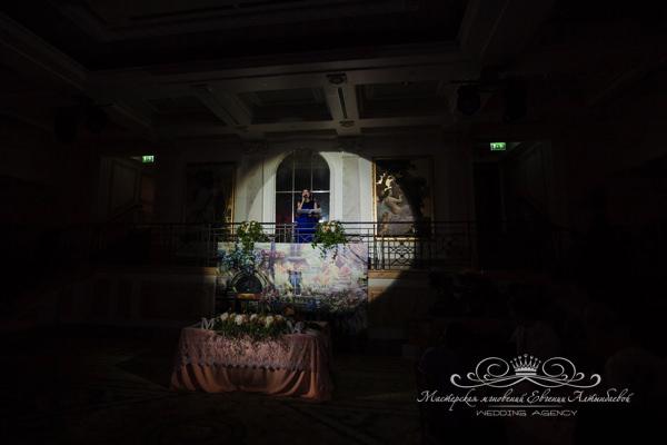 Романтичная церемония на свадьбе в отеле Фор сизонс