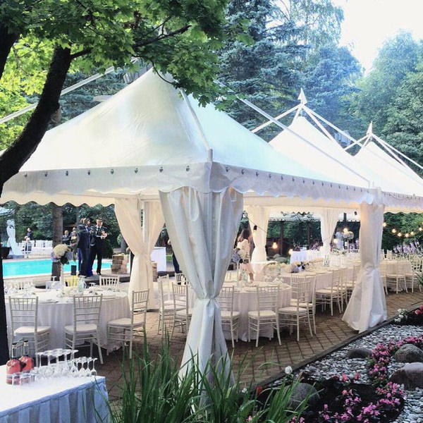 Свадьба в шатре в загородном клубе Касабланка