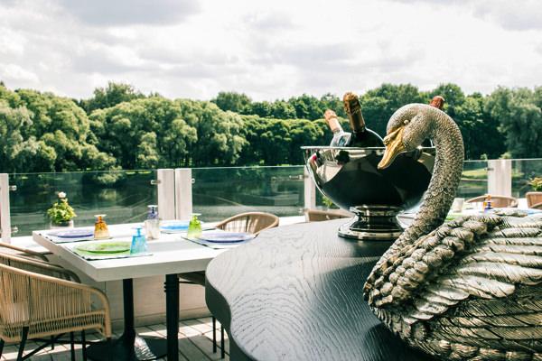 Терраса ресторана Il lago dei cigni для свадьбы