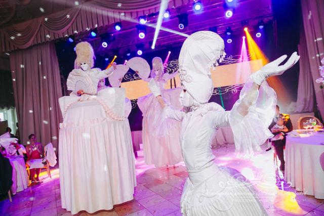 Артисты на свадьбе во дворце