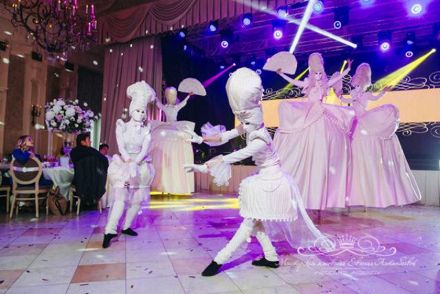Роскошная шоу программа на свадьбе