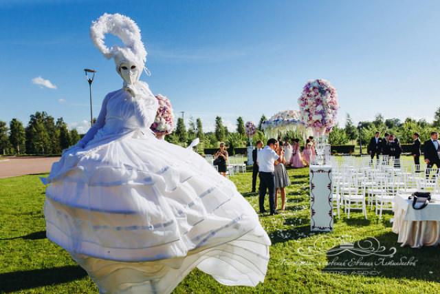 Роскошная свадебная церемония