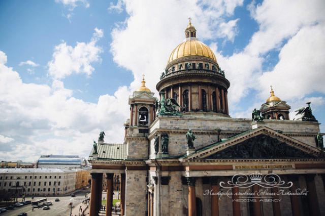 Роскошный свадебный номер с видом на Исаакиевский собор