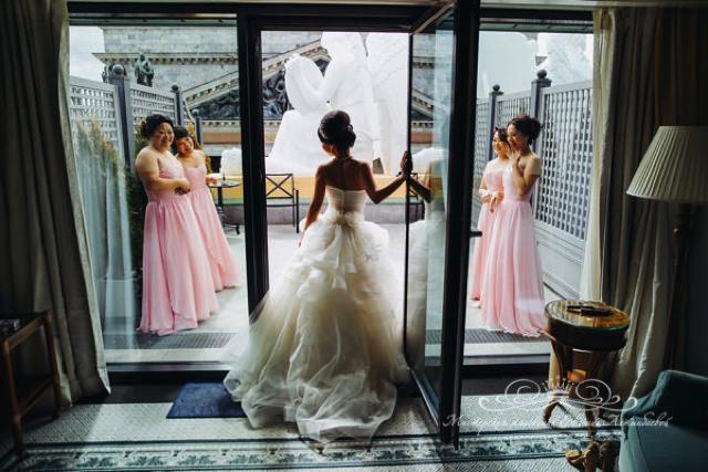 Роскошное утро невесты в отеле