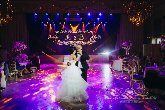 Танец невесты с отцом на свадьбе в Летнем дворце