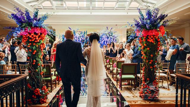 Чайная гостиная отеля Four Seasons для свадьбы