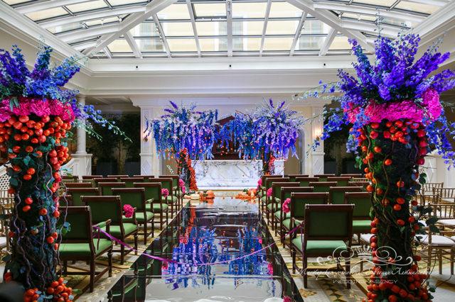 Роскошное оформление свадьбы в отеле Four Seasons
