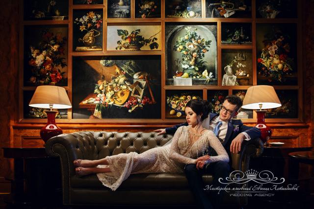 Свадебная фотосессия в Ксандер баре отеля Фор сизонс