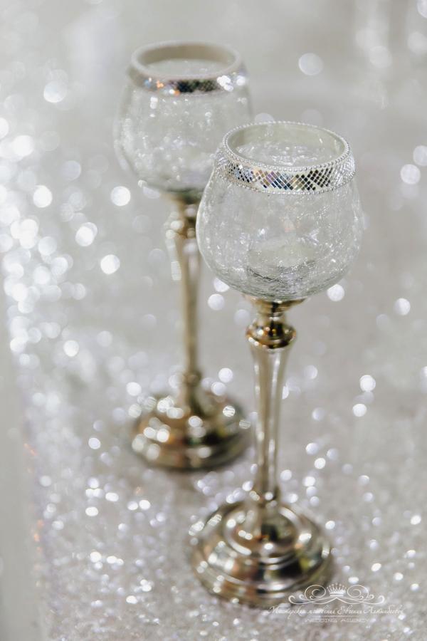 Свадебные бокалы 50 оттенков белого