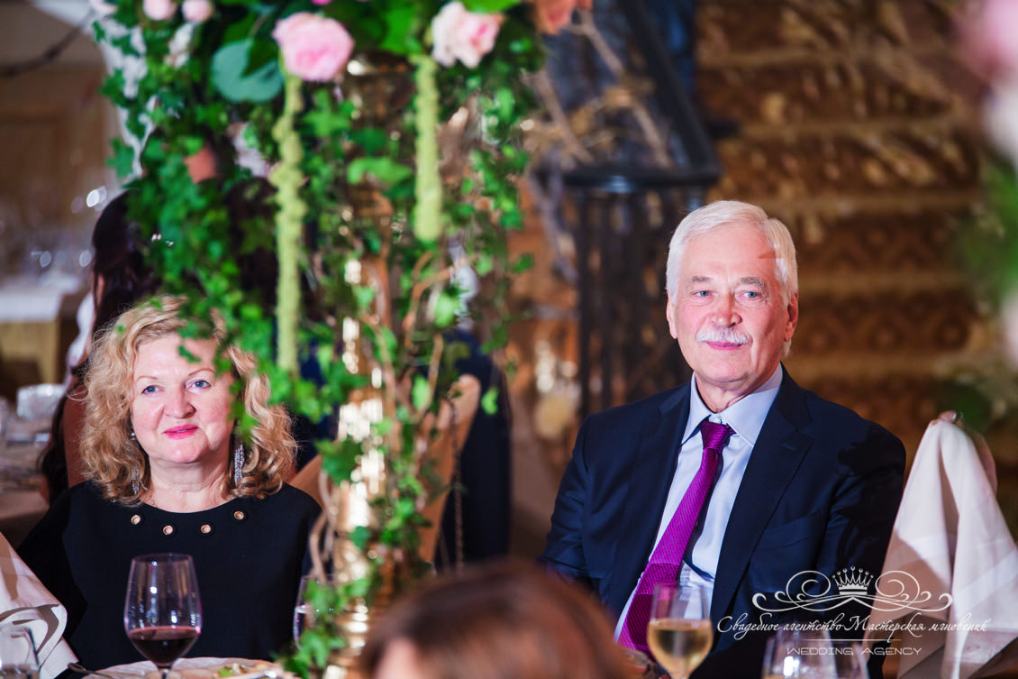 Гости на свадьбе dolce&gabbana