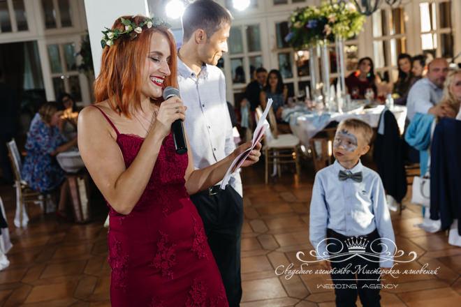 Поздравления на свадьбе в загородном клубе Скандинавия