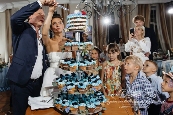 Свадебный торт в загородном клубе Скандинавия
