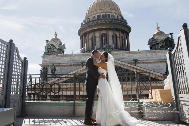 Жених и невеста в отеле Скандинавия