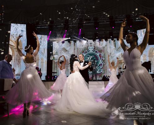 Танец с балеринами на Грузинской свадьбе