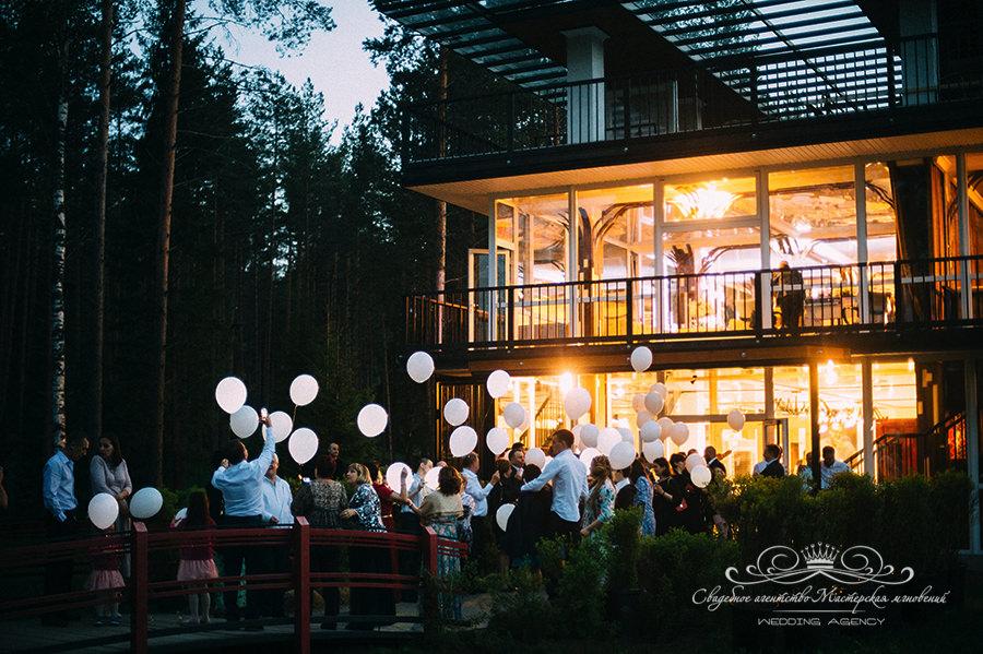 Светодиодные шарики на свадьбу